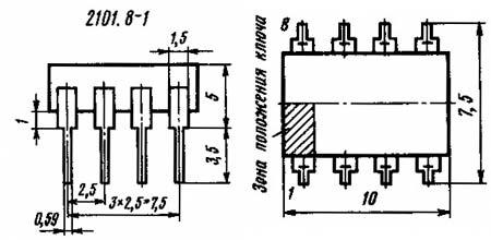 микросхема КР1006ВИ1 корпус