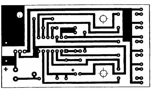 печатная плата светодиодного вольтметра