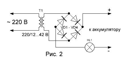принципиальная схема автомобильного зарядного устройства