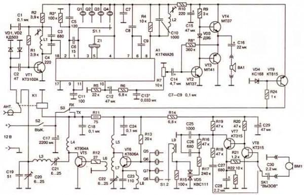 схема автомобильной св радиостанции