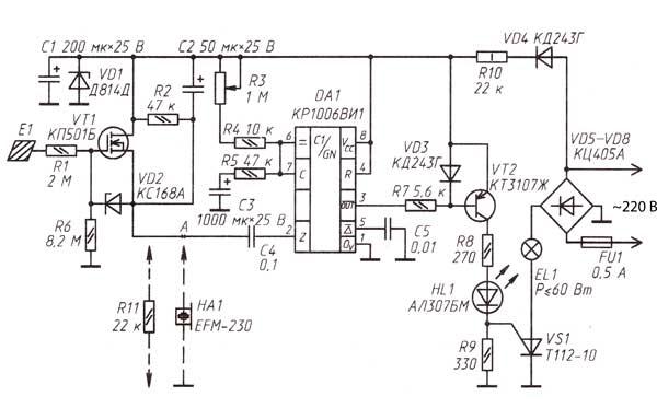 Схема сенсорного устройства