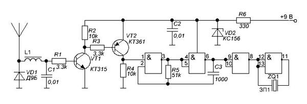 схема детектора