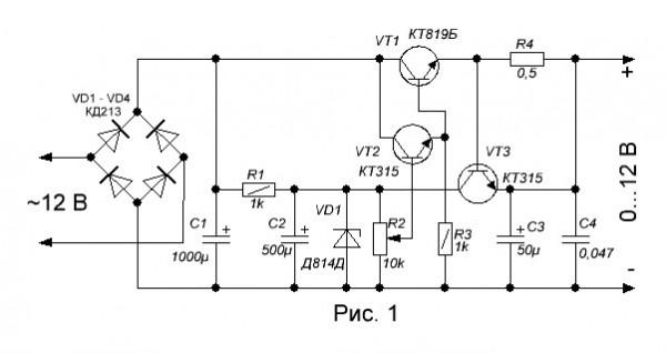 Схема регулятора мощности на 12 вольт 10 ампер своими руками 48