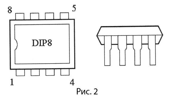 корпус микросхемы TDA2822М