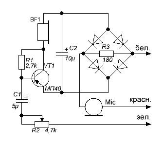 схема телефонного усилителя