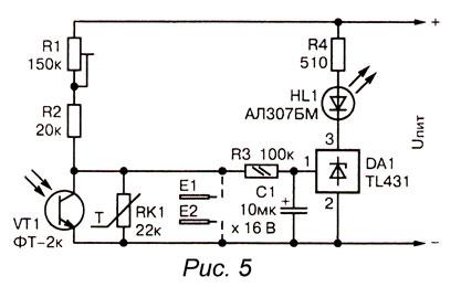 индикатор на микросхеме TL431