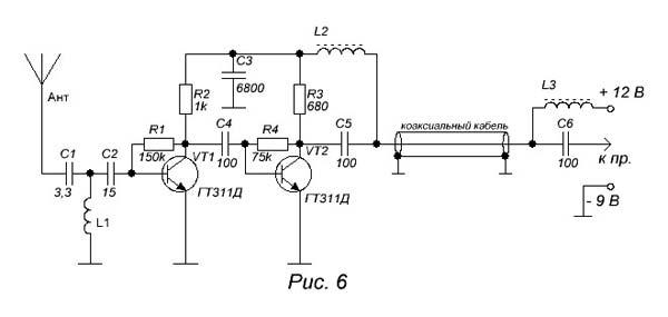 схему антенного усилителя